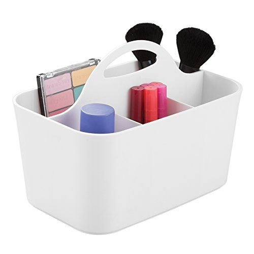 Photo Gallery For Website mDesign Cosmetic Vanity Organizer Caddy Storage for Beauty Makeup Hair Accessories Nail Polish White