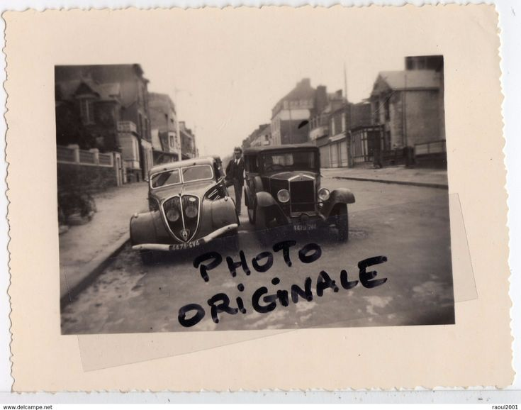 Autos Voitures Automobiles Cars - Photo Originale Photographie - PEUGEOT 402 - Tacot à Identifier - Oldtimer - Automobiles