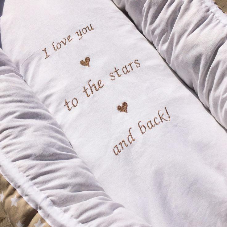 I love you to the stars and back! Unipesä villatäytteellä, Leonora