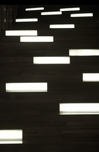 Stair lights, W Hotel Singapore
