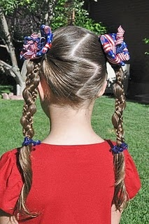 <3 this Fourth of July hair do, very creative