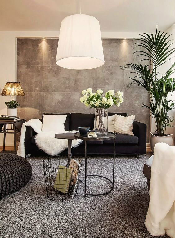 Black and White Living Room Idea 7