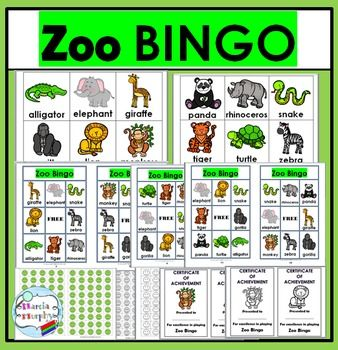 Bingo Printable - Zoo Animals Bingo Game ~ Zoo Literacy ...