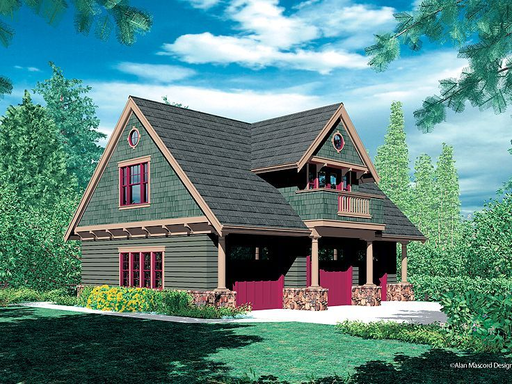 Carriage house plan, 3 car garage plus 2 BR (turn BR into larger living space.