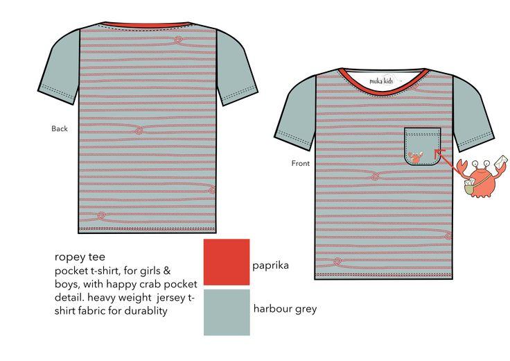 ropey t-shirt 100% organic fair trade cotton