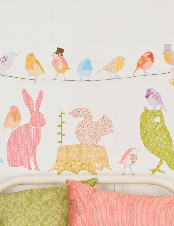 Forest Critters Fabric Wallsticker at Rose & Grey, Kids Wallstickers