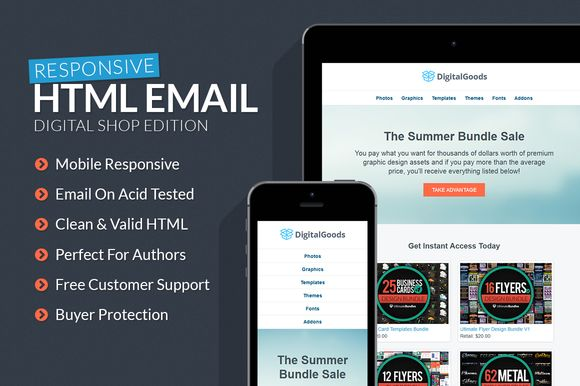 Digital Goods Responsive HTML Email by Creativenauts on Creative Market
