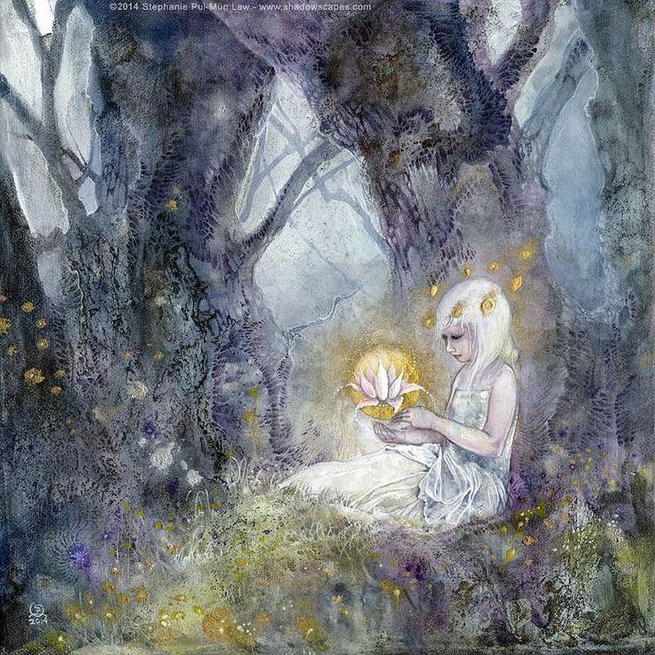 """""""Осветить"""" - это один из моих личных любимых произведений. Грубо моделируется моя маленькая девочка. #освещение #невинность #мечта #сюрреалистический #сайту magicforest #сказка #фея #феи Отпечатки здесь http://ift.tt/1fZEIXM"""