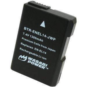 Wasabi Power Battery for Nikon EN-EL14 compatible with Nikon Coolpix P7000, P7100, P7700, D3100, D3200, D5100, D5200 (Decoded Chip) by Wasabi Power. $23.99. The Wasabi Power ENEL14-DEC battery replaces the Nikon EN-EL14 battery.  These batteries are fully decoded, which means that they will perform like the Nikon original, displaying the remaining battery life on the camera. They are fully compatible with the Nikon camera and charger. All items meet or exceed OEM standards a...