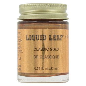 Hobby Lobby: Classic Gold Liquid Leaf by Plaid.  for 0.75 fluid oz./ 22 ml. $5.99