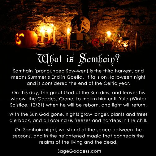 What is Samhain? It's my favorite holiday! It's also the Celtic New Year :) #Samhain #AllHallows #celtic #pagan #SageGoddess #metaphysical