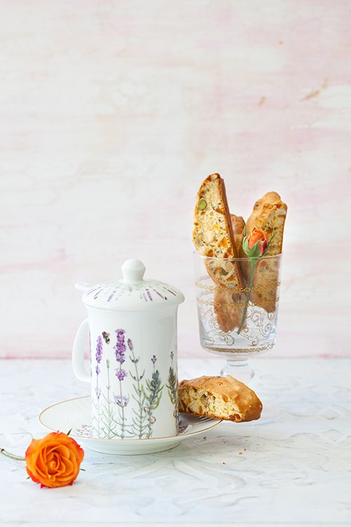 Orange Apricot Biscotti with Pistachios & Hazelnuts - Perfect Cookies for the Mothers Day at Cooking Melangery