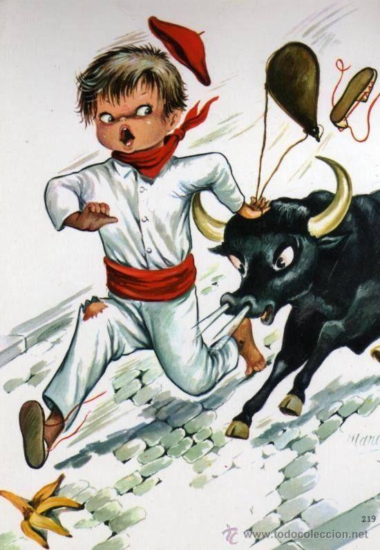 Uno de Enero, dos de Febrero, tres de Marzo, cuatro de Abril, cinco de Mayo, seis de Junio, siete de Julio San Fermin. A Pamplona hemos de ir, con una media, con una media, a Pamplona hemos de ir con una media y un calcetín ¡¡¡¡Gora San Fermín!!!!  ¡Feliz semana!