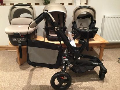 Jané Rider, Strata & Transporter Pram and Pushchair Travel System - Cream