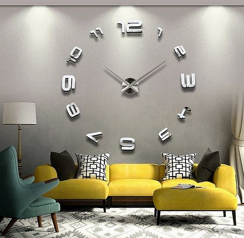 En güzel dekorasyon paylaşımları için Kadinika.com #kadinika #dekorasyon #decoration #woman #women large-wall-clock-contemporary-for-living-room