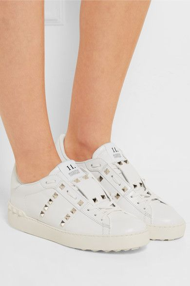 Valentino - Rockstud Untitled Leather Sneakers - White - IT