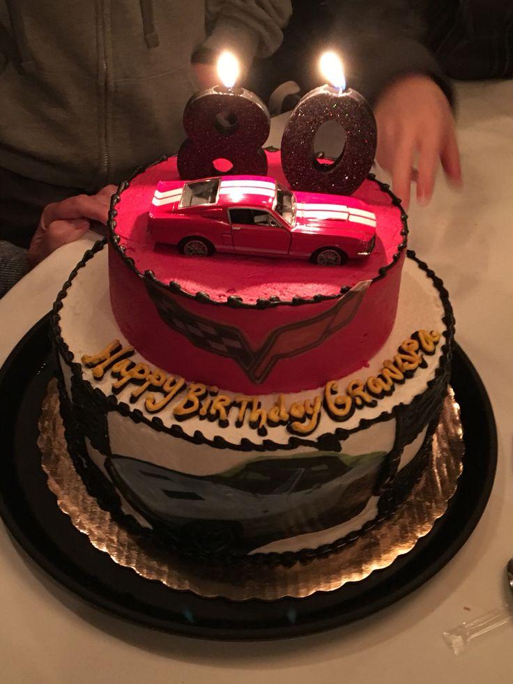 Corvette birthday cake