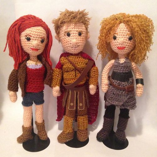 Doctor Who Crochet Amigurumi from CraftyIsCool - Amy Pond, Rory Williams & River Song