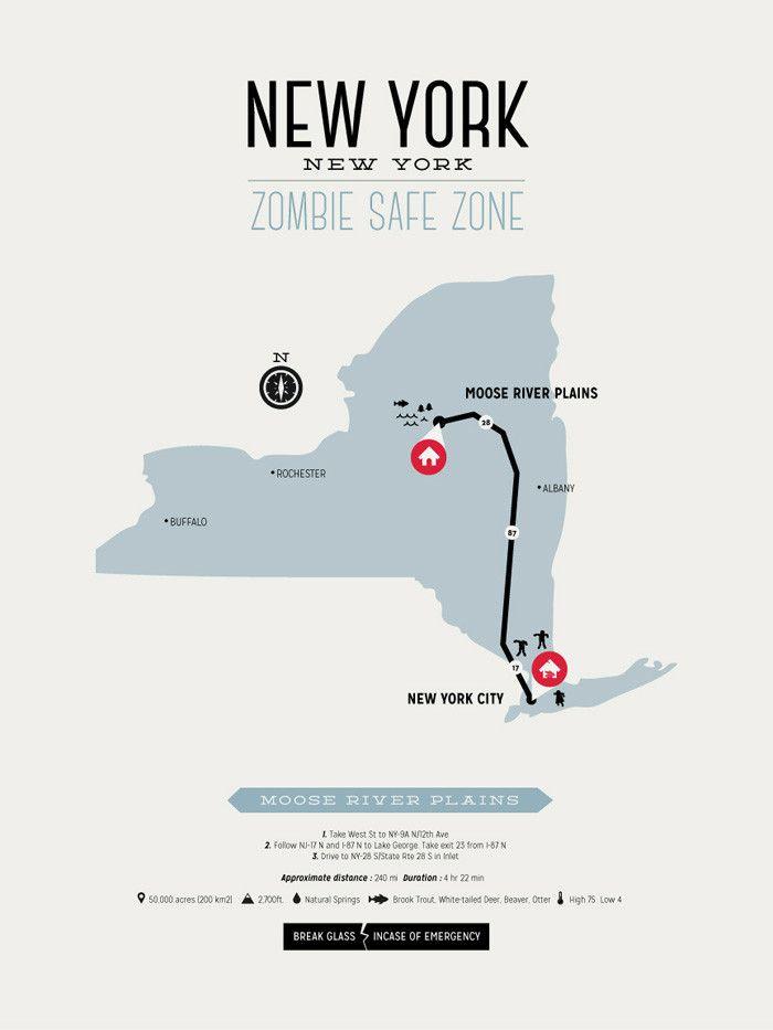 Zombie Safe Zone New York Map