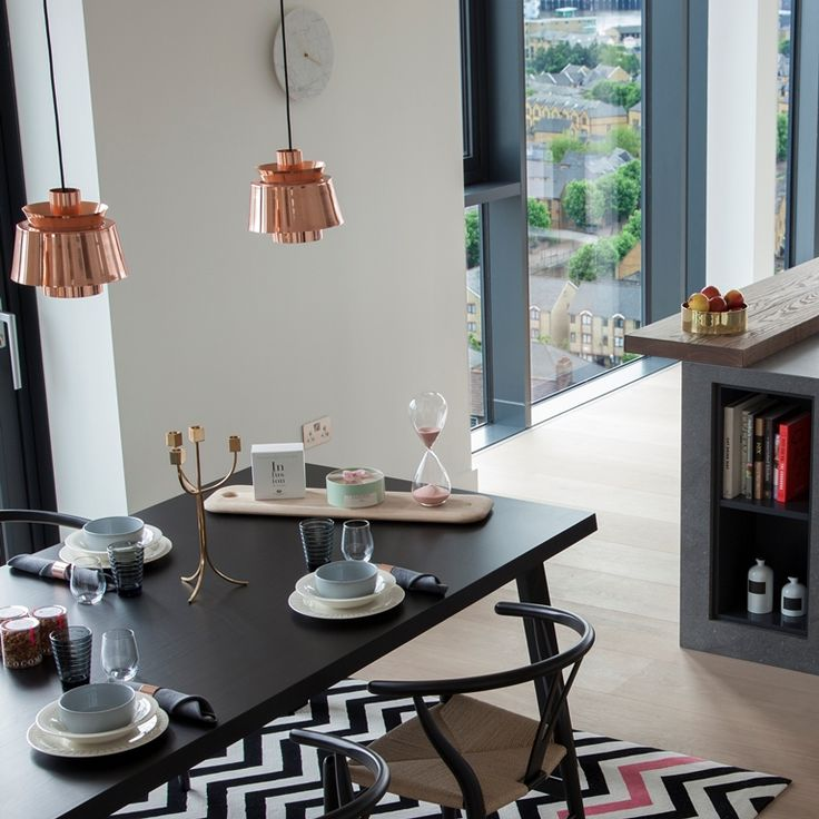 Tradition utzon pendant lights a look inside stylish penthouse by amos and amos