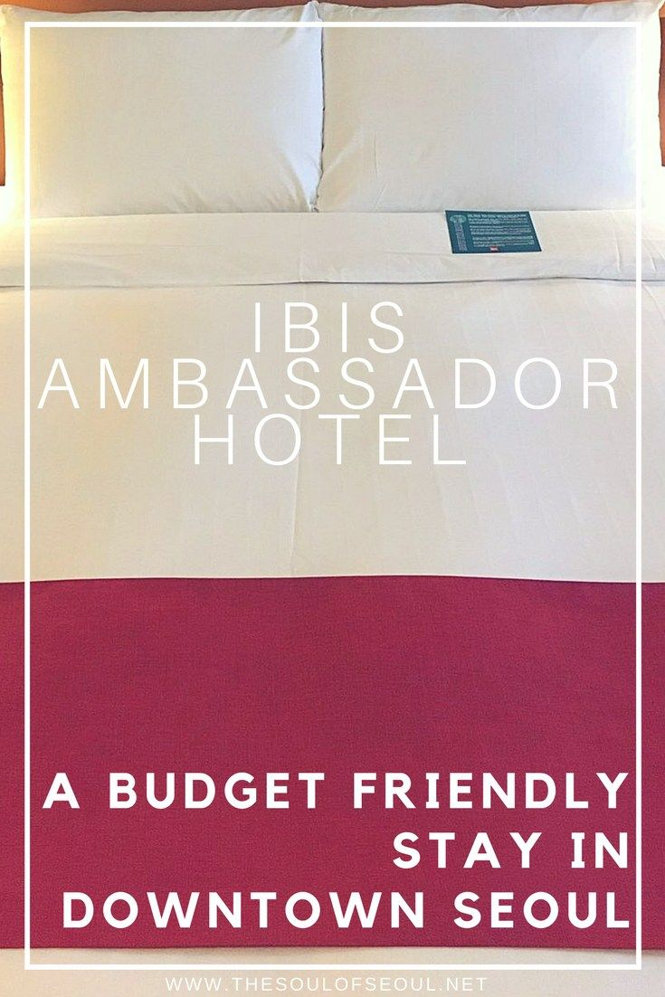 ibis Ambassador Hotel, A Budget Friendly Stay in Downtown Seoul: The ibis Ambassador Seoul Myeongdong is a budget friendly hotel in the hot shopping district of Seoul. Tourists and residents should check out this great stay in Myeongdong.