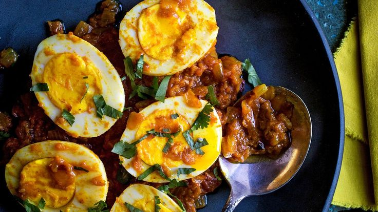 Eggs in Spicy Tomato Sauce (Ande Ki Kari) - Video - NYTimes.com