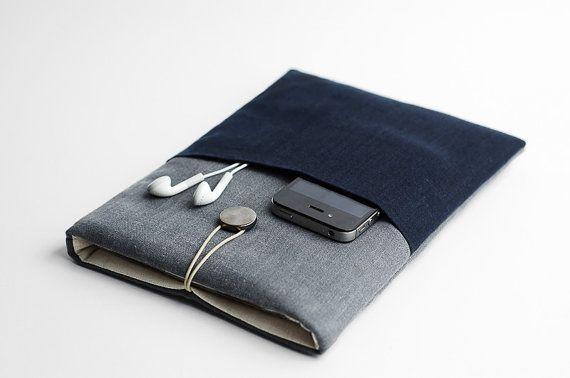 Manchon bleu de Macbook Air, 11 pouces Macbook cas, avec manchon minime de poche, bleu,