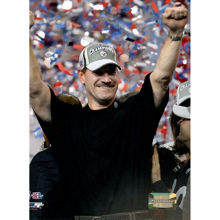 Bill Cowher Super Bowl Celebration 8x10 Photograph (PF)