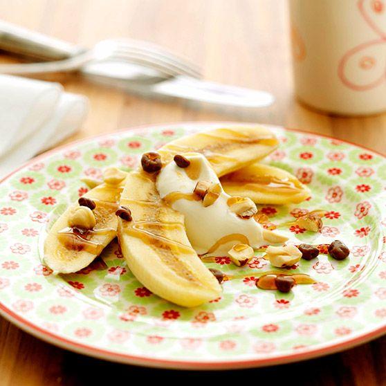Banandessert -http://www.dansukker.dk/dk/opskrifter/banandessert-dk.aspx #dansukker #opskrift #dessert #banan #lækkert #snack