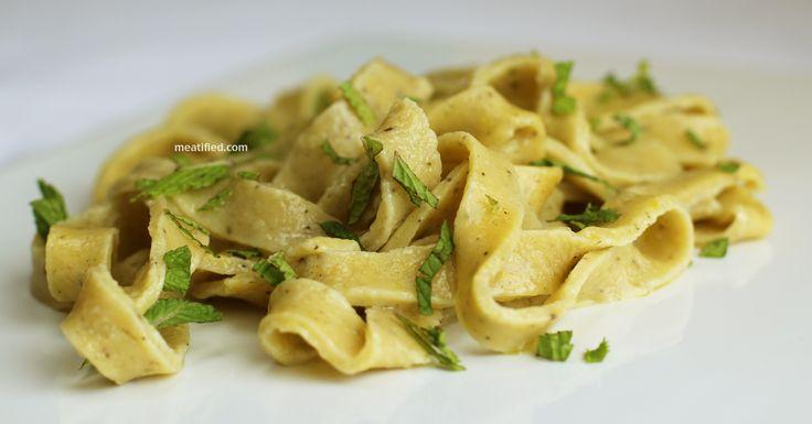 Gluten Free Pasta! Lemon Zest & Black Pepper Tagliatelle with Fresh M ...