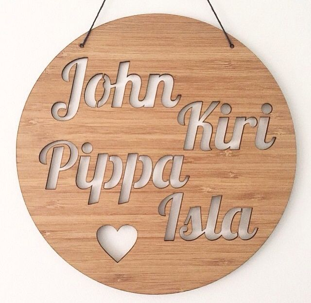 FAMILY NAME PLAQUE - Arlo and Co