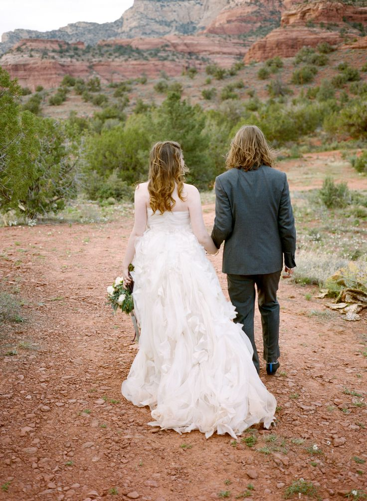#monique-lhuillier  Photography: Aaron Delesie Photographer - aarondelesie.com  Read More: http://www.stylemepretty.com/2013/09/03/sedona-wedding-from-aaron-delesie-lisa-vorce-mindy-rice/