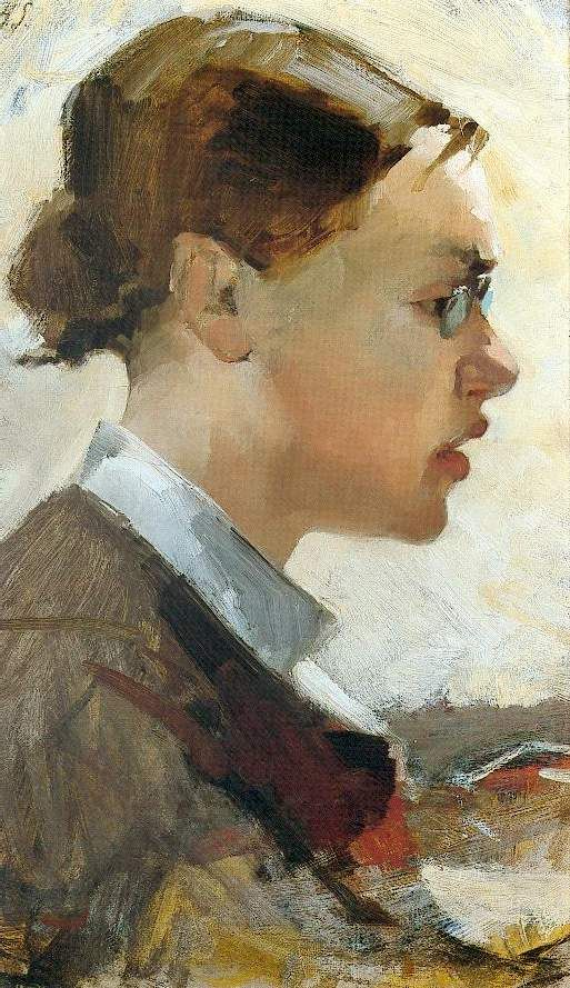 Helene Schjerfbeck, portrait of Helena Westermarck 1884. Gösta Serlachius Museum, Mänttä Finland.