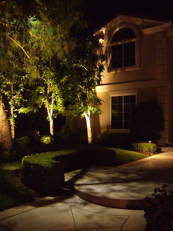 7 best led landscape lighting in orange county images on pinterest led landscape lighting on this orange county ca home in coto de caza up lighting mozeypictures Image collections