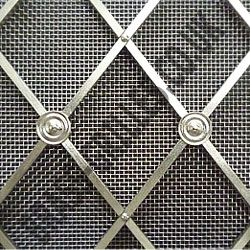regency satin chrome grille 41mm diamonds alternate plain rosettes fine satin chrome mesh. Black Bedroom Furniture Sets. Home Design Ideas