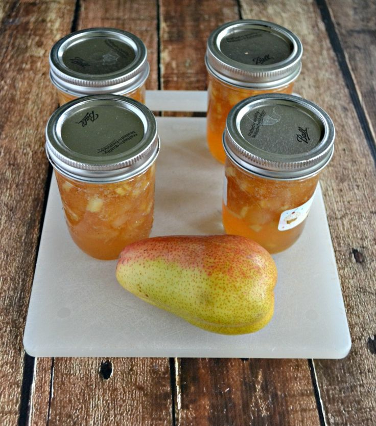 Grab a basket of pears and make this tasty Pear Ginger Jam #SundaySupper