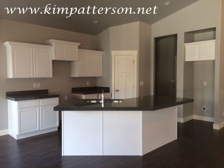 Gray Kitchen Walls With White Find This Pin And More On Grey Background Black Appliances By LADEFOJR Picking Colors