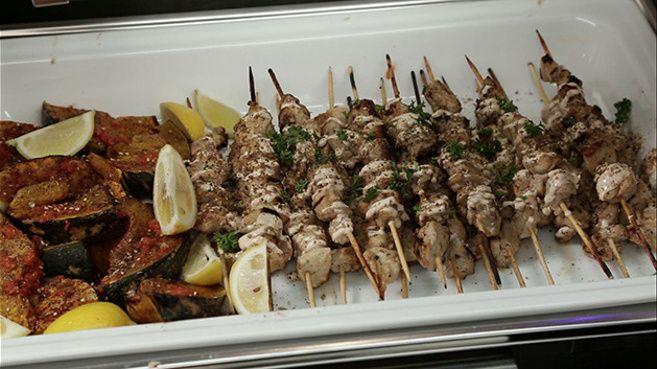 Chicken Shish Kebab with Harissa Pumpkin and Za'atar