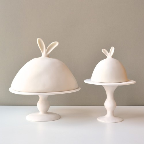 Lapin Collection Dome and Pedestals - contemporary - serveware - - by Tina Frey Designs
