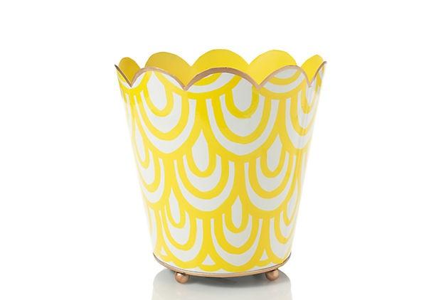 Jayes Scales Wastebasket, Yellow    $39.00