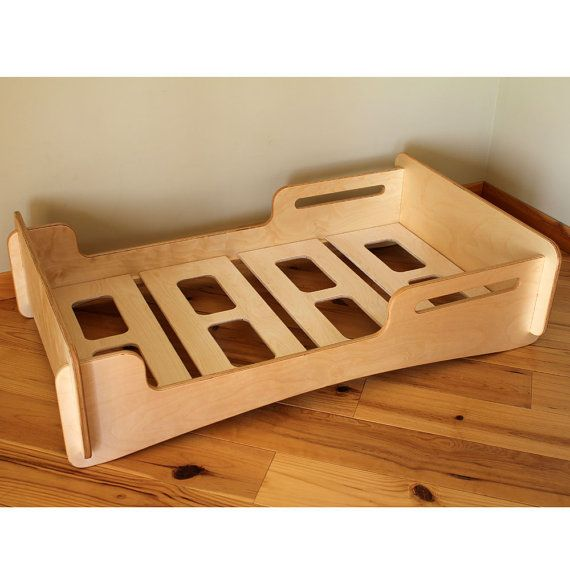 Natural Twin sized Montessori style Infants bed. by HighlandWood
