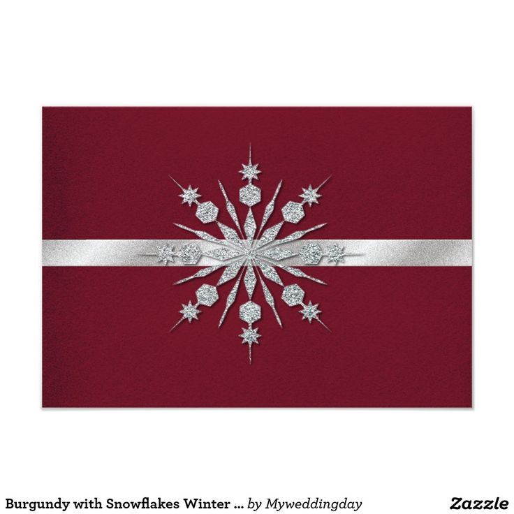 sample wording for rsvp wedding invitations%0A Shop Burgundy with Snowflakes Winter Wedding RSVP Card created by  Myweddingday