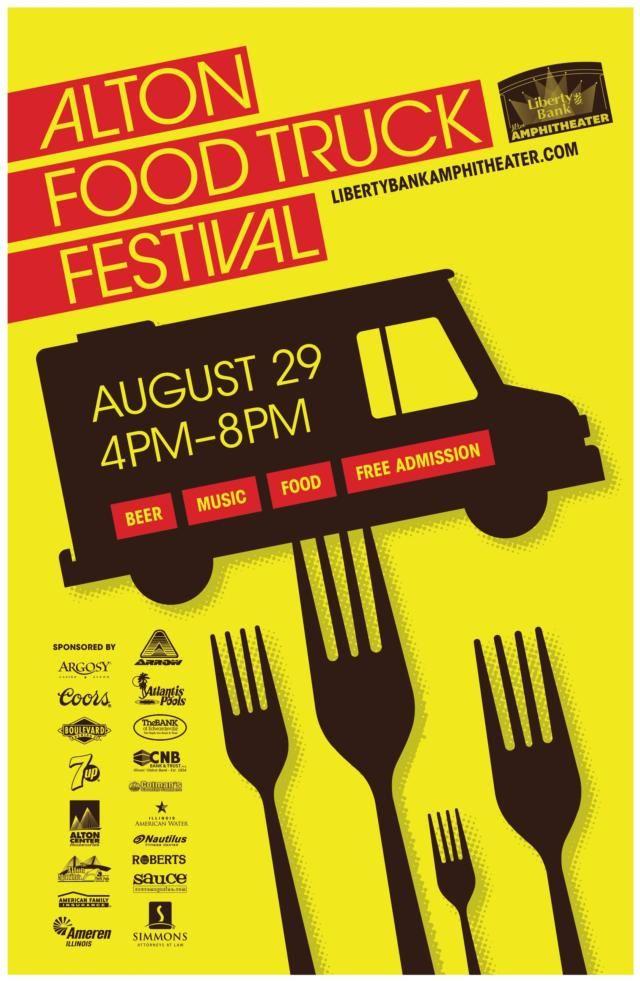 Alton Food Truck Festival poster, courtesy of Evintiv.