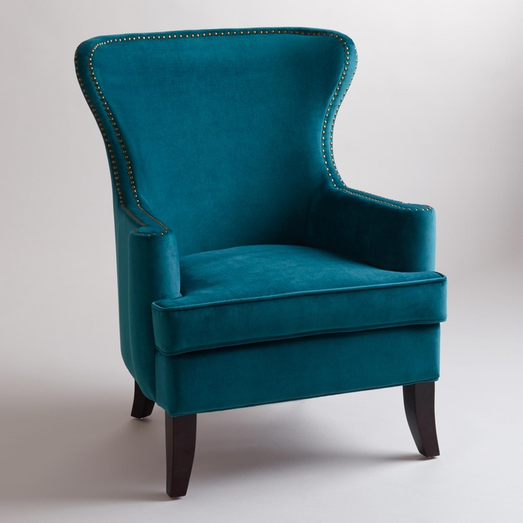 Pacific Blue Elliott Wingback Chair - modern - Armchairs And Accent Chairs
