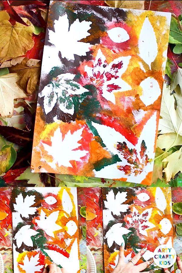 Herbstblatt-Malerei – kinderkinder – #Herbstbl…