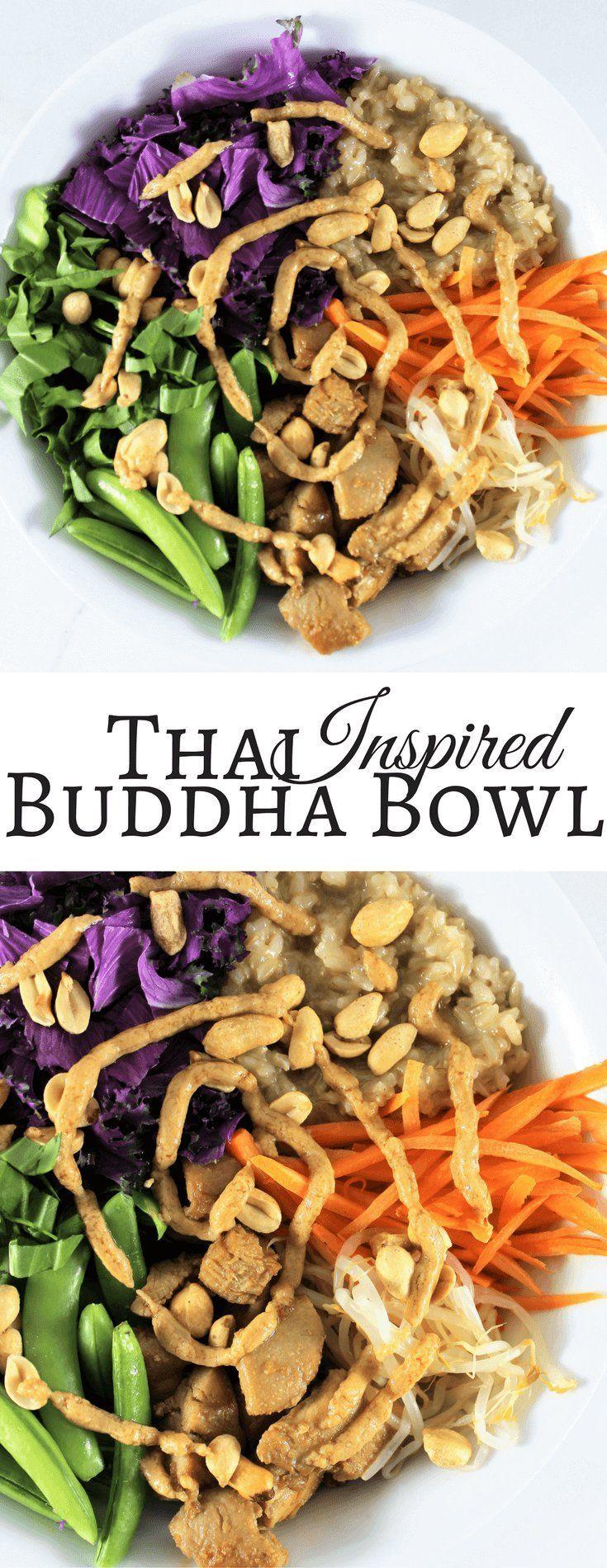 Thai Inspired Buddha Bowl {+ Round Up} | Buddha Bowl | Healthy | Macro bowl | Thai