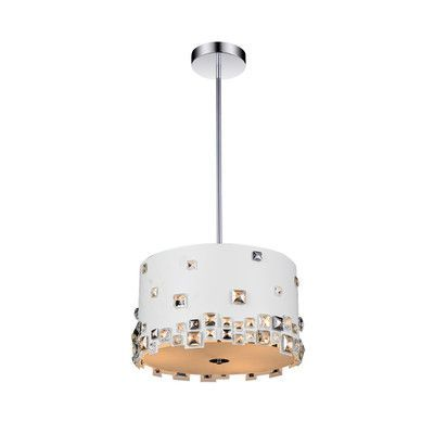 CrystalWorld Shadow 5 Light Drum Chandelier Shade Color: