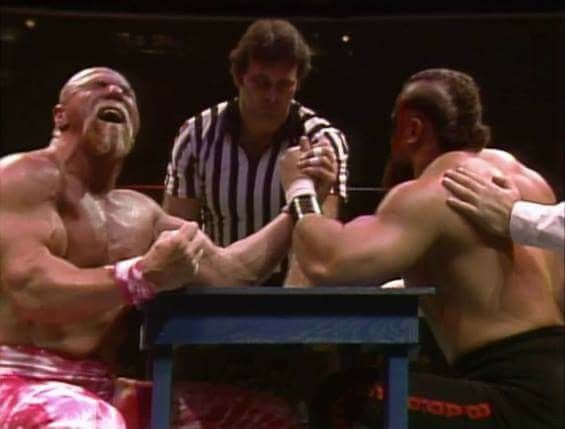 Superstar Billy Graham and the Barbarian Arm Wrestling Match