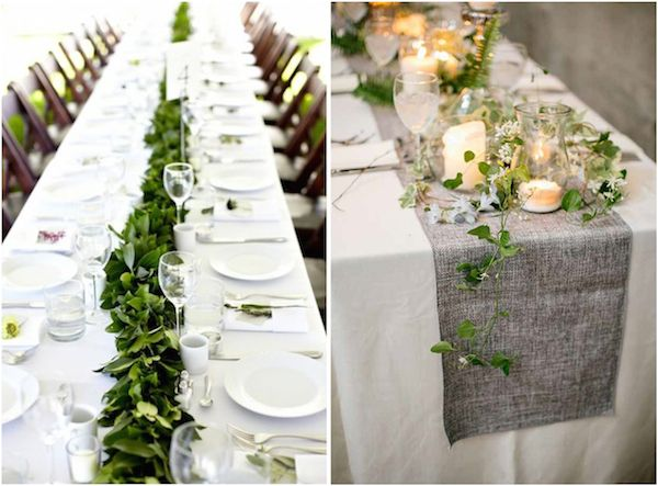 Woodsy And White Wedding Tablescape Ideas. Table GarlandHead ...