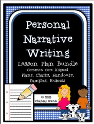 Personal Narrative Writing Lesson Plan & Resource Bundle from Chantal Gunn on TeachersNotebook.com -  (46 pages)  - Lesson plans and worksheets, graphic organizers, conference sheets, editing sheets and MORE for teaching personal narratives.